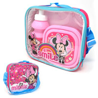 Official Minnie Mouse Smile Lunch Bag Set 3 Piece