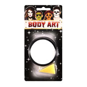 Halloween Body Art Make Up Powder White With Sponge