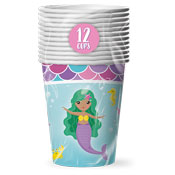 Mermaid Disposable Party Cups