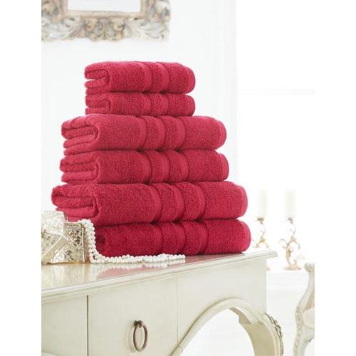 Supreme Cotton Bath Sheets Pomegranate