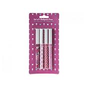 Pretty Pink Ballpoint Pen 4 Set