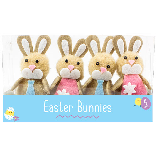 Easter Bunny Decorations 4 Pack