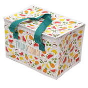Woven Lunch Box Cool Bag Tropical Print