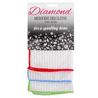 Diamond Microfibre Dish Cloths 3 Pack