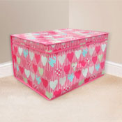 Hearts Design Jumbo Storage Chest