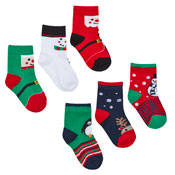 Baby Festive Christmas Cotton Rich Socks