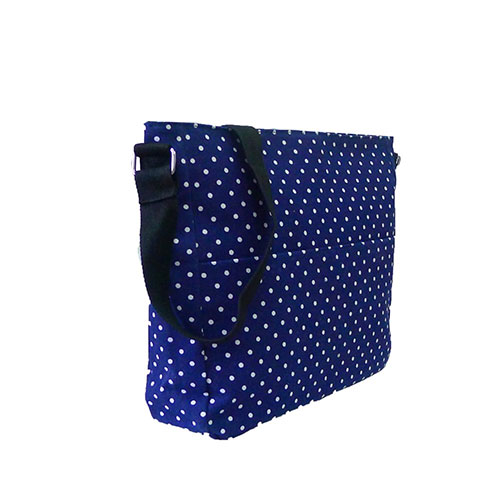 Mini Polka Dot Crossbody Bag Navy Blue
