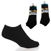 Mens Pro Hike Plain Black Trainer Socks Carton Price