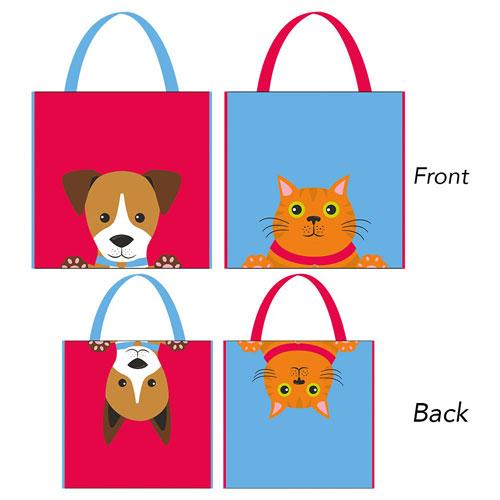 Shopping Bag Dog - Cat 2 Assorted Designs