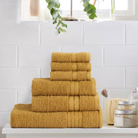 6 Piece Luxury Towel Bale Set Mustard
