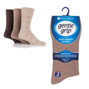 Mens Gentle Grip Dotted Patterns Socks