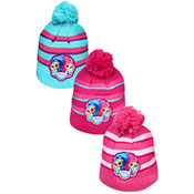 Childrens Shimmer And Shine Hat With Pom Pom