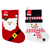 Christmas Character Stocking Santa & Snowman