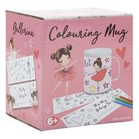Colour Your Own Ballerina Mug