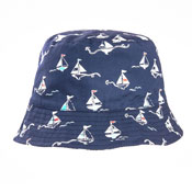 Baby Boys Yacht Print Bush Hat