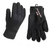 Mens Heavy Knit Winter Gloves