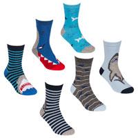 Boys 3 Pack Shark Print Socks