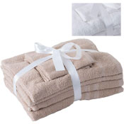 Luxurious Cotton 6 Piece Towel Bale Latte