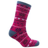 Ladies Heat Machine 1.6 Tog Thermal Socks Fairisle