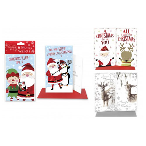 Foil Christmas Money Wallets 6 Pack