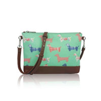 Sausage Dog Mini Cross Body Bag Green