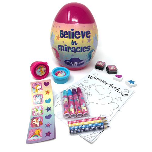 Magical Unicorn Stationary Set Inside Egg