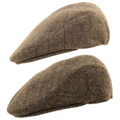 Mens Structured Flat Caps
