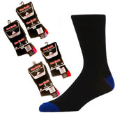 Non Elastic Socks Coloured Heel & Toe