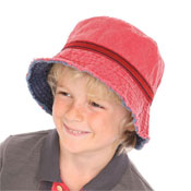 Childrens Bush Hats with Frayed Edge