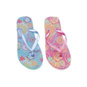 Girls Flip Flops Flower Print