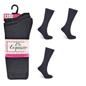 Ladies Exquisite Computer Socks Black