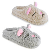 Ladies Soft Fleece Sleeping Dog Mule