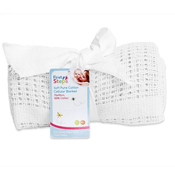 Soft Pure Cotton Cellular Blanket White