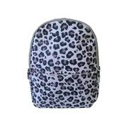 Leopard Front Pocket Backpack Black