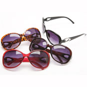 Ladies Deluxe Pattern Hinge Fashion Sunglasses