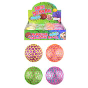 Mesh Squeeze Glitter Ball With Light