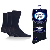 Mens Gentle Grip Socks Plain Navy