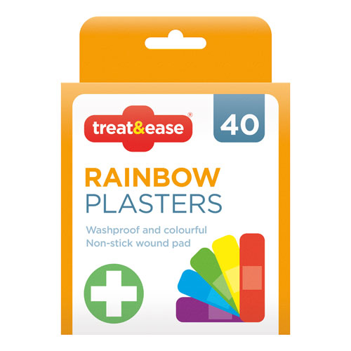 Waterproof Rainbow Plasters 40 Pack
