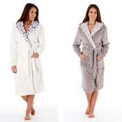 Ladies Snow Much Fun Fair Isle Hooded Dressing Gown