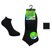 Mens Arch Support Trainer Socks Black
