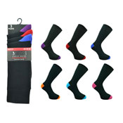 Mens Coloured Heel and Toe Socks Kry Collection Carton Price