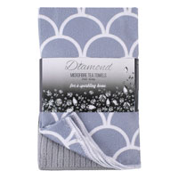Diamond 3 Pack Microfibre Tea Towels