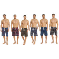 Mens Yarn Dyed Woven Check Shorts