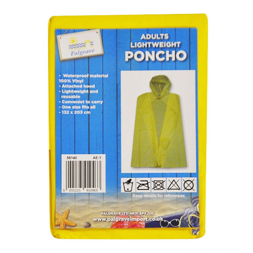 Adults Lightweight Poncho