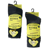 Mens Chunky Big Foot Work Socks
