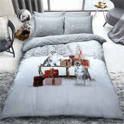 Winter Huskies Christmas Duvet Set