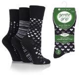 Ladies Bamboo HoneyComb Gentle Grip Socks Mono