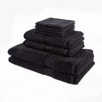 Luxury 8 Piece Oxford Towel Bale Black