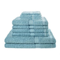 10 Piece Luxury Towel Bale Set With Ribbon Aqua
