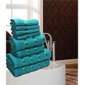 Luxurious Egyptian Teal 8 Piece Towel Bale